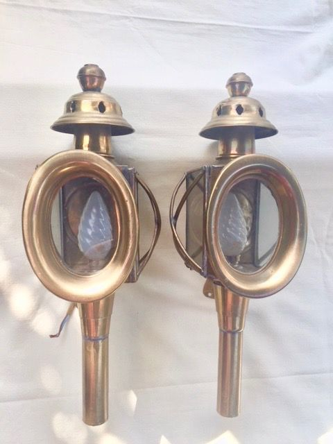 a pair of french carriage lights