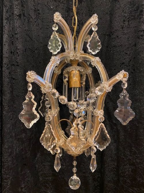 a one light italian marie theresa antique chandelier
