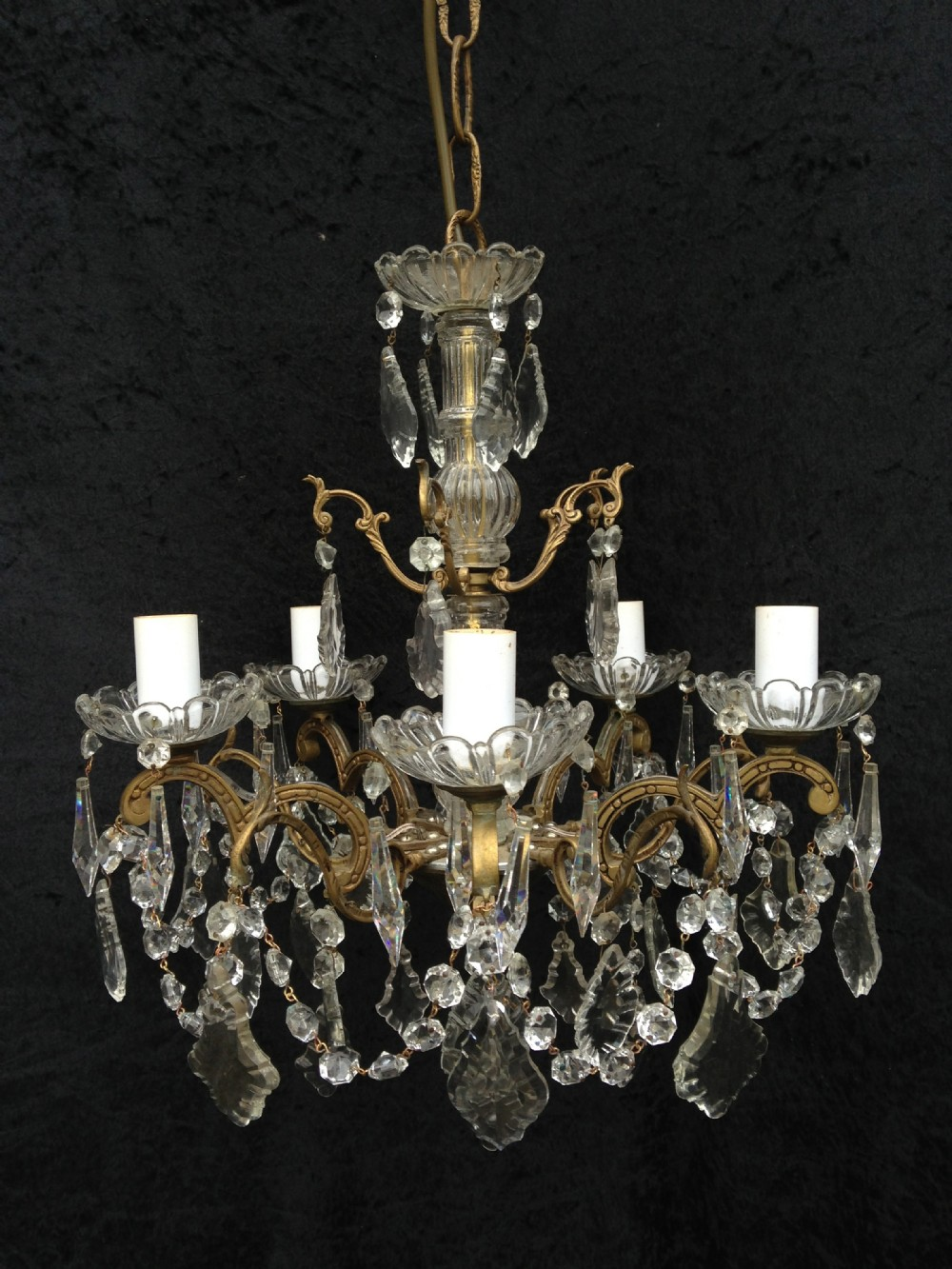 summer sale was 950 now 750traditional french brass and crystal chandelier